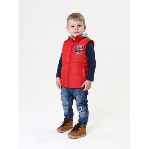 f0796e59978 Купить недорого модную детскую жилетку с капюшоном